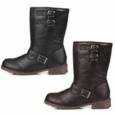 Buckle Mid-Calf Boots for Women