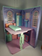 Barbie 2009 Mattel  Two Story Townhouse Purple Folding Large Doll House