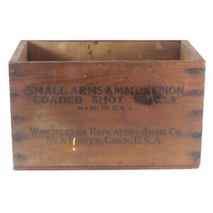 Vintage Winchester Repeating Arms Co. 12 Gauge Wood Ammo Advertising Crate Box