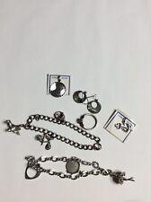 Charms And 2 Sterling Bracelet Vintage Lot of Sterling Silver