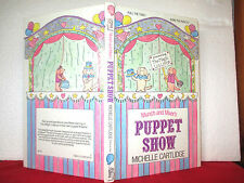 Michelle Cartlidge MUNCH AND MIXER'S PUPPET SHOW 1983 hardcover picture book