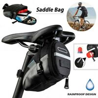 Bicycle Saddle Bag MTB Road Bike Seat Storage Bag Reflective Strip Cycling Pouch