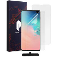 [2-Pack] Galaxy S10 Plus Film Screen Protector [Ultra Thin] Poetic® Film Shield
