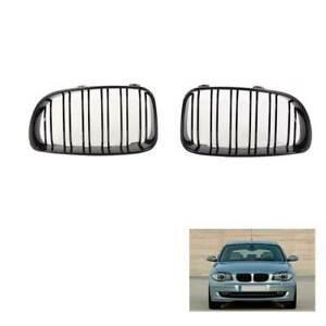 Pair Gloss Black Front Grille ABS for BMW 1 Series E81 E87 E82 E88 2007-2012