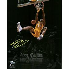 Shaquille O'Neal Los Angeles Lakers Autographed 11x14 Spotlight Dunk Photo NBA