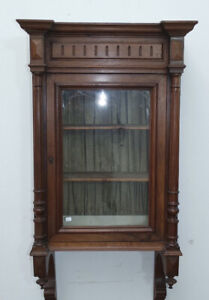 antica vetrina da appendere Napoleone III 1870 in noce massello