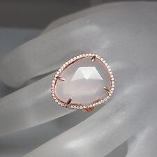 Ring mit 0,23ct Brillant TW-si und 10,22ct Rosenquarz in 750/18K Rosegold