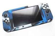 Nintendo Switch & Joy Con Controller Blue Camo Silicone Protective Cover Set UK