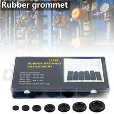 170Pc Assorted Rubber Grommets Set Open & Closed Blind Blanking Grommet Wiring '