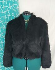 Chelsea28 Faux Fur Coat Short Hair Black Small Long Sleeve