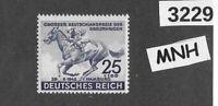 #3229     MNH stamp Sc B204 1942 Blue ribbon Horse race Hamburg Third Reich