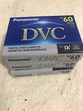 3- Panasonic DVC Mini Digital Blank Video Cassette 60 Min New