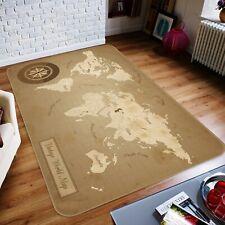 3D Vintage Compass R637 World Map Non Slip Rug Mat Elegant Photo Carpet Kay