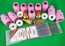 Gas Lens Kit Jumbo Gas lens Alumina Cups WZ Tungsten Aluminum TIG XL Gaslens Kit