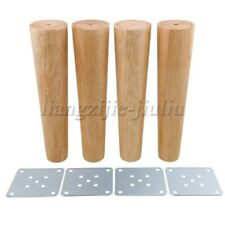 4Pcs 250x60x40mm Cone Wooden Furniture Legs Iron Plate for Cabinets Table Desk
