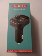 FM Car Transmitter, Bluetooth, TF + USB Player, Charger Adapter