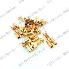 9.5mm Brass Female Spade Lucar Connectors x 50 - Non-Insulated Terminals