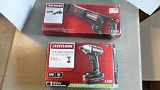 Craftsman 19.2 IMPACT DRIVER KIT 936557 and Reciprocating Saw 917549 cordles NOS
