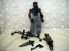 "GI JOE SIGMA 6 ACTION FIGURE W/  ACCESORIES 5 PC KNIFE HOLSTER 8"" HASBRO 2005"
