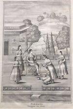 Gravure XVIIIe, Inde Moghole, Rajasthan, Chittor, Padmini, Islamic Art Engraving