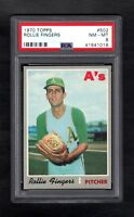 1970 TOPPS #502 ROLLIE FINGERS A'S PSA 8 NM/MT CENTERED!