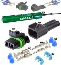 Delphi Metri-Pack 280 Series 2-Conductor Connector w/10-12 AWG **3 SET** + TOOL