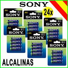 PILAS ALCALINAS AA LR6 1.5V 24x SONY ALKALINE POWER ALKALINAS ECO PACK 6 BLISTER