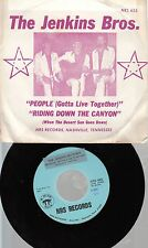 Rock Picture Sleeve 45 The Jenkins Bros. - People (Gotta Live Together) / Riding