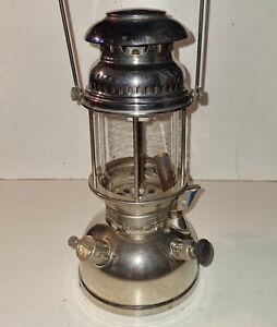 alte Petroleum Lampe , Petromax Rapid REGD , Chrom , Starklichtlampe