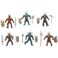 6 Gladiator Knights from Orcs World, Plastic Figures, 100 mm, New
