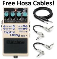 New Boss DD-7 Digital Delay Guitar Pedal! FREE Hosa Cables!