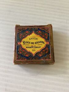 Vintage RogeR.Gallet SAVON Bois De Santal Sandal Wood 0.4 oz Bath Soap France