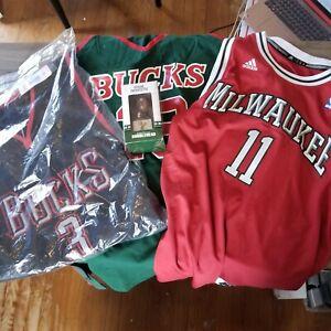 Milwaukee Bucks Jersey lot, Ray Allen, Glenn Robinson, Lanier, Ellis, Doucette