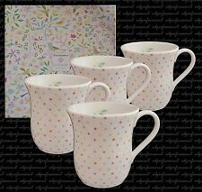4 PORTMEIRION SECRET GARDEN MUGS BOXED POLKA DOT