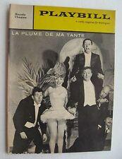 Playbill For La Plume De Ma Tante Robert Dhery 1960
