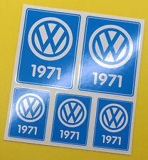 VW 1971 VOLKSWAGEN Year Date stickers INSIDE GLASS BEETLE BAY WINDOW CAMPER