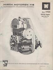 HIRTH  SNOWMOBILE & VEHICLE ENGINE MODEL 193R SPARE PARTS MANUAL (660)