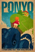POSTER PONYO SULLA SCOGLIERA ON THE CLIFF BY THE SEA HAYAO MIYAZAKI GHIBLI #7