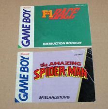 2 x Nintendo Game Boy GameBoy Anleitung Heft F-1 Race the Amazing Spider-Man