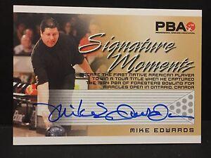 MIKE EDWARDS  2008 Rittenhouse PBA Bowling AUTOGRAPH Signature Moments AUTO Card