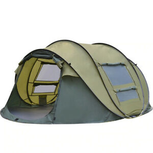 Automatic Pop-up Tent 4 Person Outdoor Instant Waterproof Tent Hiking Camping