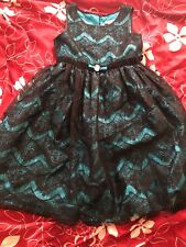 Blue with black lace over bloome dress age 14, never worn