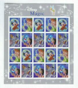 2007 SCOTT #4192-4195 SET OF 4 MAGIC 20 MVF 41c STAMP SHEET THE ART OF DISNEY US