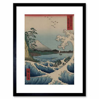 Utagawa Hiroshige Japanese Sea Off Satta Picture Framed Wall Art Print