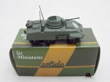 Miniature Métal Tank SOLIDO militaire Combat Car Blindé M8 US