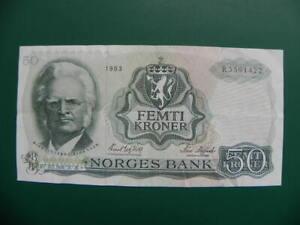 Noorwegen 50 Kroner 1983