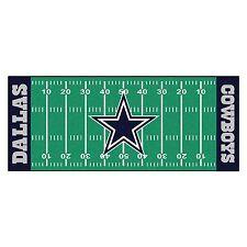 Fanmats NFL Dallas Cowboys Football Field Runner Mat, Rug 7349 Rug New