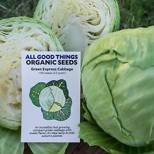 Green Express Cabbage Seeds (~150): Certified Organic, Heirloom, Open-Pollinated