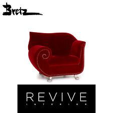 Bretz Gaudi Fabric Armchair Red Velvet #14727