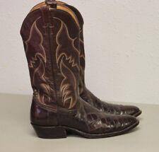 Nocona Men's Western Cowboy Boots Vintage Crocodile Alligator Exotic Skins 10 B